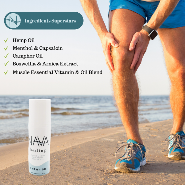 Nava Healing Muscle & Joints Pain Relief Roll-on Gel navahealing.com